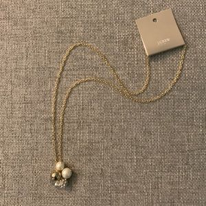 J. Crew Pearl Gold Crystal Necklace